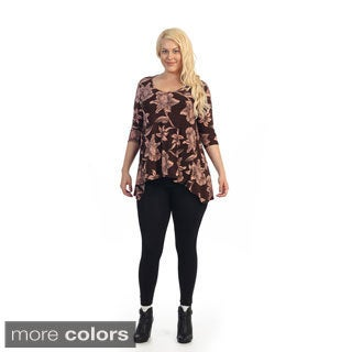 Ella Samani Women's Plus Size Floral Top
