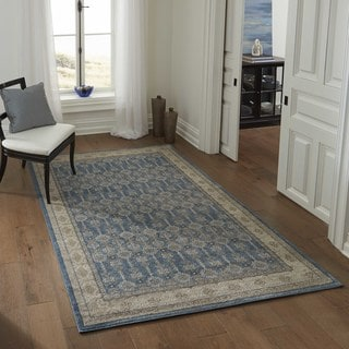"Brighton Floral Panel Machine-Made Rug (9'3""x12'6"")"