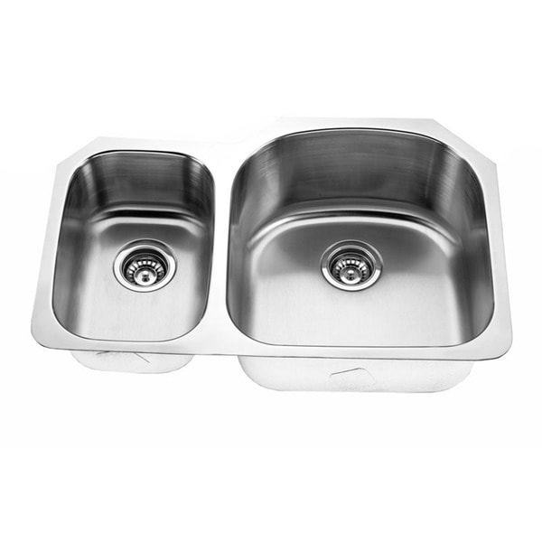 Designer Stainless Steel Sinks : Designer Collection 30/ 70 Stainless Steel Double Bowl Kitchen Sink ...
