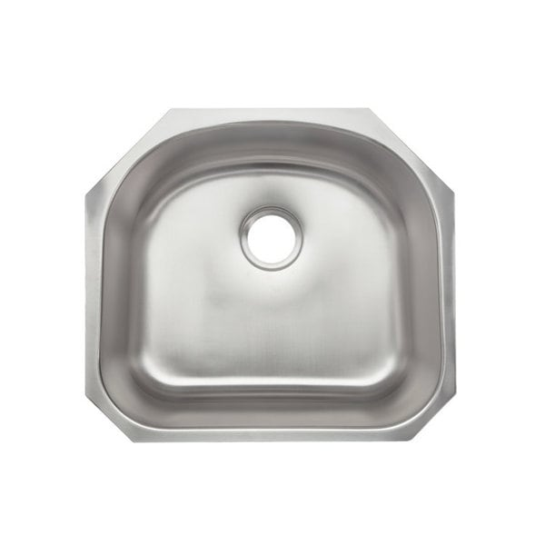 Designer Collection Stainless Steel Half-Moon Bowl Single Kitchen Sink