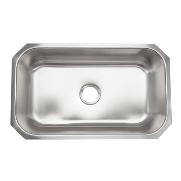 Designer Stainless Steel Sinks : Designer Collection Extra Large Stainless Steel Single Bowl Kitchen ...
