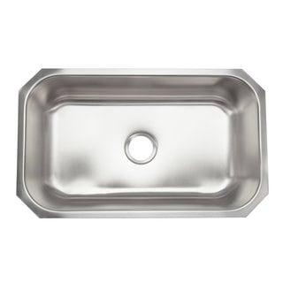 Designer Collection Stainless Steel Extra Large Single Bowl Kitchen Sink
