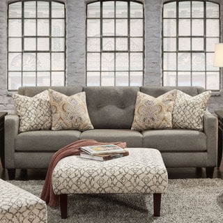 Furniture of America Rayson Contemporary Grey Upholstered Sofa