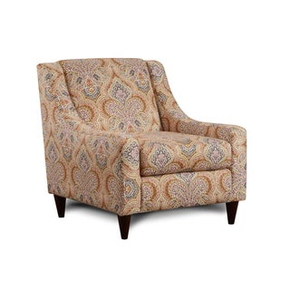 Furniture of America Rayson Contemporary Damask Print Arm Chair