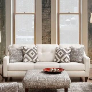 Furniture of America Cara Contemporary Ivory Tufted Sofa