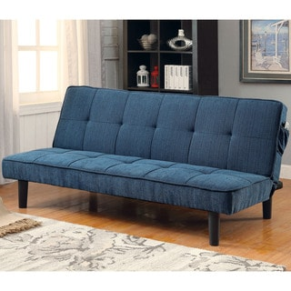 Furniture of America Calbry Contemporary Flax Fabric Futon Sofa