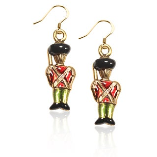 Gold over Silver Nutcracker Charm Earrings