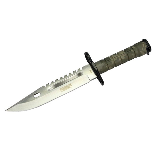 13-inch Green Woodland camo Bayonet Hunting Knife with Sheath