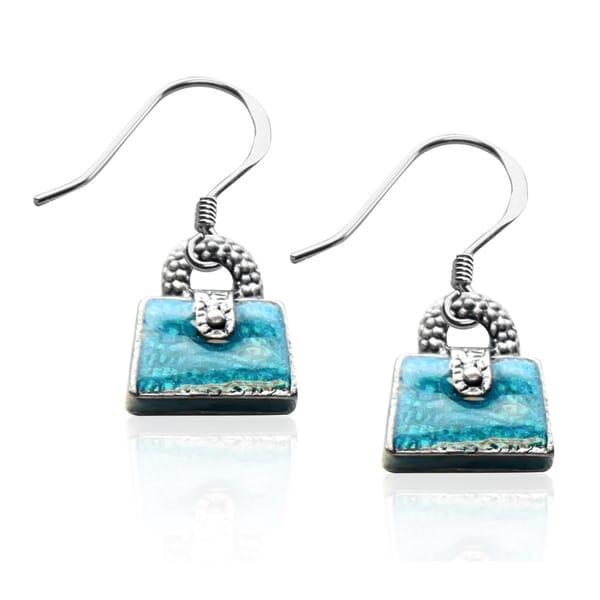 Sterling Silver Purse Charm Earrings