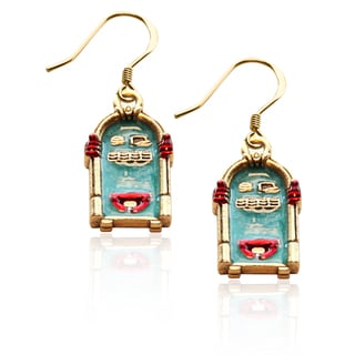 Gold over Silver Jukebox Charm Earrings