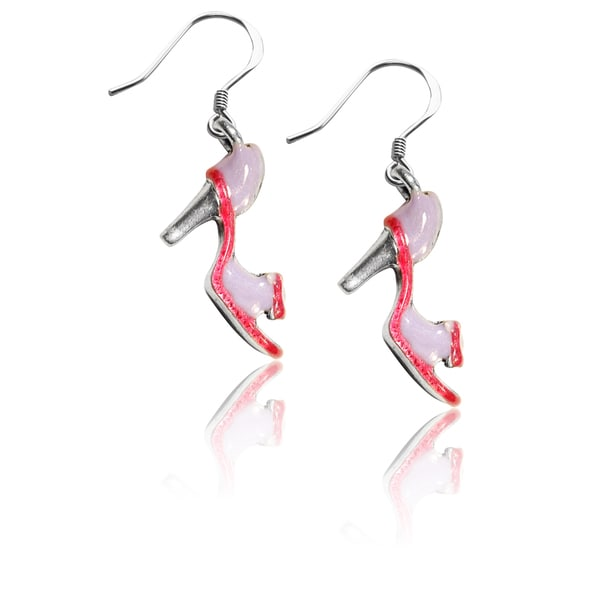 Sterling Silver High Heel Sandal Charm Earrings