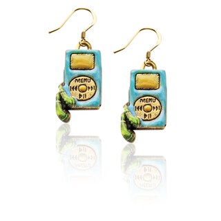 Gold over Silver iPod Charm Earrings