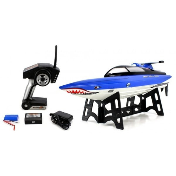 Velocity Toys Great White Shark 2.4GHz 15 MPH RTR Electric RC Speed Boat