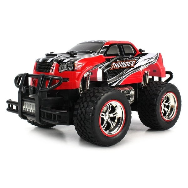 Velocity Toys Mini V-Thunder Storm 1:24 Off Road Series RC Monster Pickup Truck