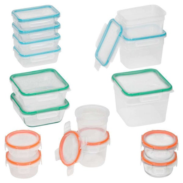 Snapware Total Solution 30-piece Plastic Food Storage Set