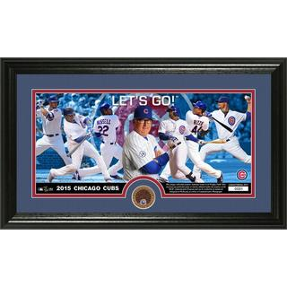 Chicago Cubs 'Lets Go.' Dirt Coin Panoramic Photo Mint