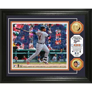Miguel Cabrera '400th Home Run' Gold Coin Photo Mint
