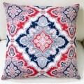Artisan Pillows Indoor/Outdoor 20-inch Modern Navy Blue/Red Marine Coastal Geometric Throw Pillow Cover (Set of 2)