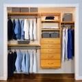 5-drawer Honey Maple Deluxe Closet Organizer