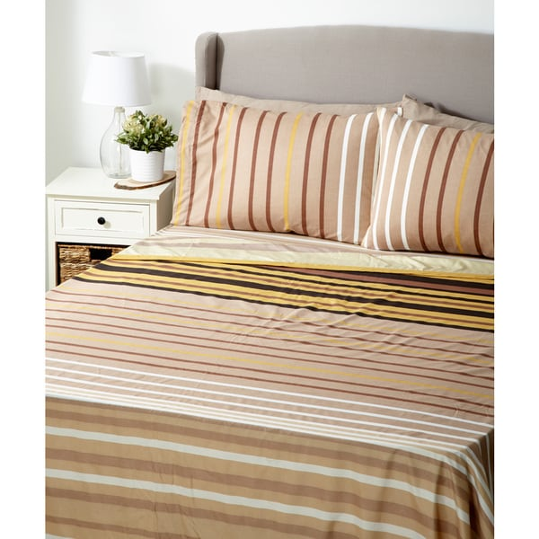 Glory Home 1000 Series 6-piece Sheett Set Multicolor Stripes