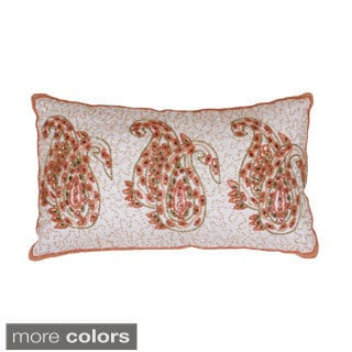 Parca Paisley Beaded Pillow