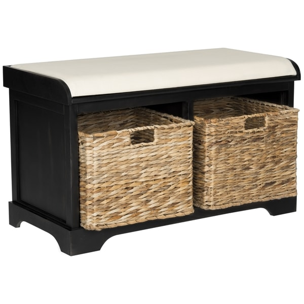 Safavieh Freddy Distressed Black Storage Bench