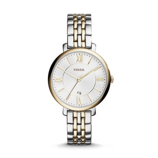 Fossil Women's Jacqueline Silver Dial Two-Tone Stainless Steel Watch ES3739