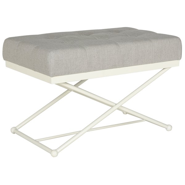 Safavieh Cara Light Grey/ Cream Bench