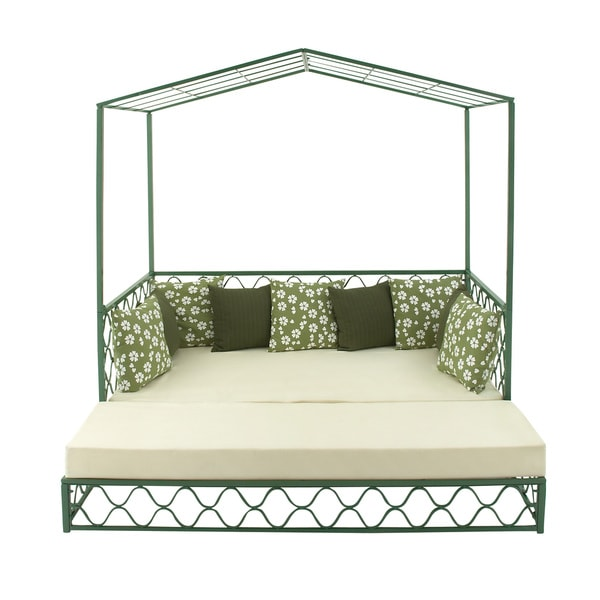 Metal Outdoor Daybed 17462335 Overstock Com Shopping