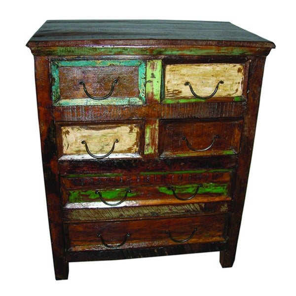 Beech 6-drawer Chest