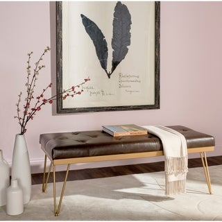 Safavieh Marcella Brown/ Gold Bench