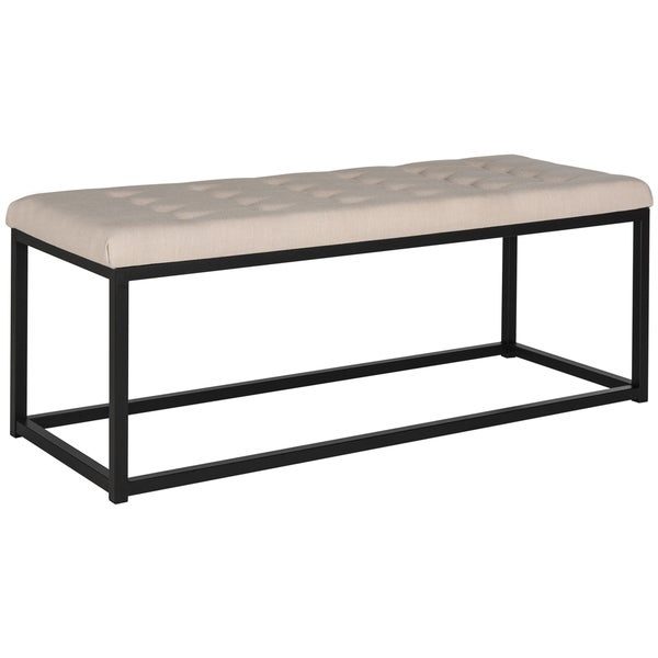 Safavieh Reynolds Beige/ Black Bench