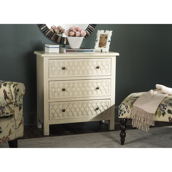 Safavieh Roana Cream 3 Drawer Chest