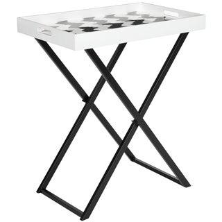 Safavieh Abba Black/ White Tray Table