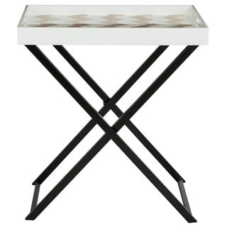 Safavieh Abba Grey/ White Tray Table