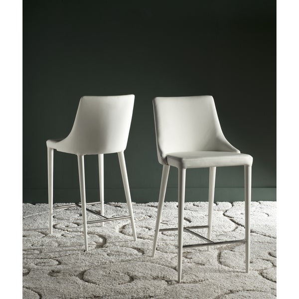 Safavieh Summerset White 26 Inch Counter Stool Set Of 2