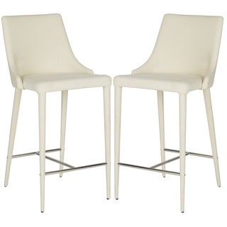 Safavieh Summerset Linen Beige 26-inch Counter Stool (Set of 2)