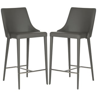 Safavieh Summerset Grey 26-inch Counter Stool (Set of 2)