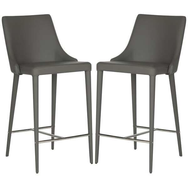 Safavieh 26 Inch Summerset Grey Counter Stool Set Of 2