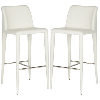 Safavieh Garretson White 30-inch Bar Stool (Set of 2)