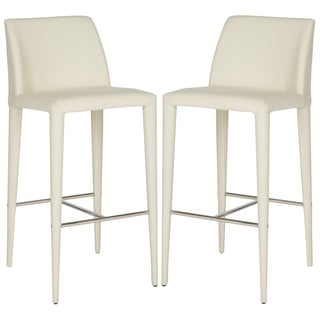 Safavieh Garretson Linen Beige 30-inch Bar Stool (Set of 2)