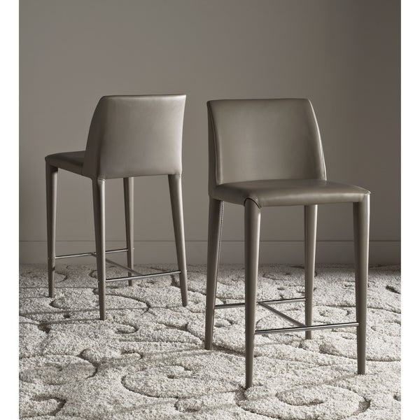 Safavieh 26 Inch Garretson Taupe Counter Stool Set Of 2