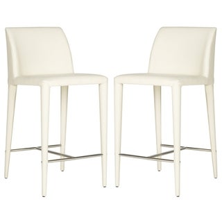Safavieh Garretson Beige Linen 26-inch Counter Stool (Set of 2)