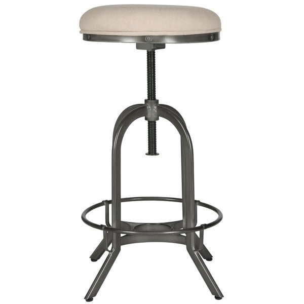 Safavieh Wildomar 25 35 Inch Adjustable Beige Stool