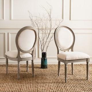 Safavieh Holloway Light Beige Oval Side Chair (Set of 2)