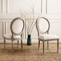 Safavieh Old World Dining Holloway Light Beige Oval Side Chairs (Set of 2)