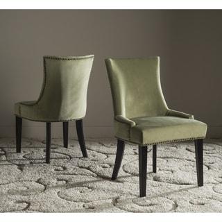 "Safavieh Dining Lester Mint Dining Chair - Brass Nailheads (Set of 2) - 22"" x 24.8"" x 36.4"""