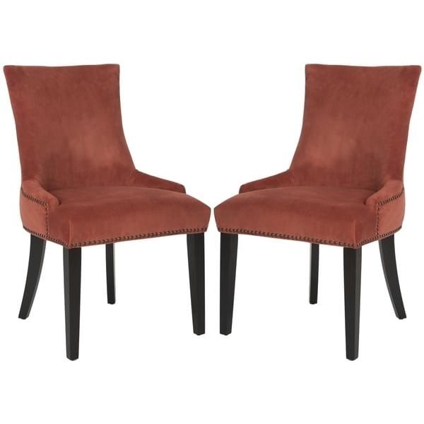 Safavieh Lester Rust Dining Chair Set of 2