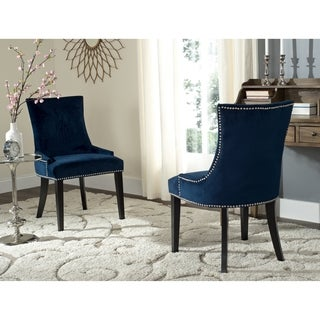 Safavieh En Vogue Dining Lester Navy Side Chairs (Set of 2)