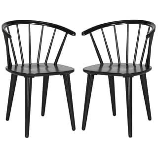 Safavieh Blanchard Black Side Chair (Set of 2)